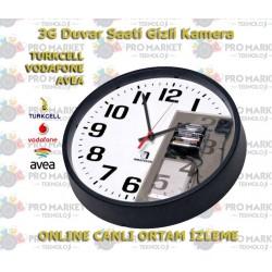 3G Duvar Saati Gizli Kamera