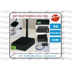 3G Uzaktan İzlemeli Düğme Kamera